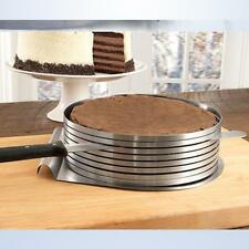 Easy Adjustable 6 Layer Cake Slicer Cutting Guide 24 cm to 30cm High Quality 430