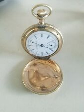 vintage waltham u.s.a. traveler pocket watch fortune a.w.c co