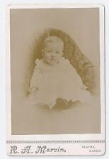 Vintage Cabinet Card ~ Cute Young Baby ~ Olathe, Kansas