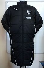 GLASGOW RANGERS PADDED BENCH JACKET BY PUMA SIZE LARGE BRAND NEW WITH TAGS