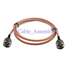 10X 3ft N Male plug to N Male RF Adapter RF Pigtail Cable COAX RG142 1M for WLAN