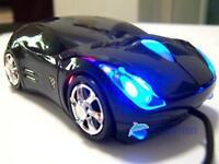 800DPI Optical Cool Black Car Shape USB 2.0 3D Optical Mouse Mice For PC LaptopK