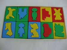 Kids Puzzle Shapes That Fit Into Blocks Male Female Rolls 10 Blocks Color Learn