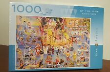 """""""AT THE GYM"""" KING PUZZLE GERALD COMO (NAUGHTY) ART 1000 PCS OOP MIB 18.9""""x26.4"""""""