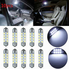 10x 36mm C5W 8 LED 1210 3528 SMD Blanco Bombilla Festoon Interior Matricula luz