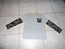 NWT- Crazy 8 Boys Shirt small  top clothes 5 6  long sleeve thermal camo