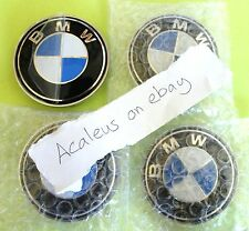 BMW E46 Hub Caps 4x 68mm wheel Centre Badges