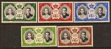 MONACO 1956 ROYAL WEDDING SC # 366-370 MNH