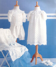 Knitting pattern-  Baby  Christening robe- shawl and jumper in 4ply and DK
