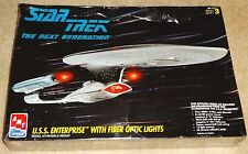 Star Trek TNG USS Enterprise Fiber Optic Model Kit RARE FACTORY SEALED