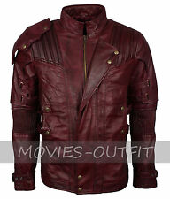Guardians Of The Galaxy 2 Chris Pratt Peter Quill Star Lord Mens Leather Jacket