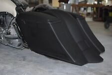 """Stretched 6"""" Down & Out SaddleBags overlay Rear Fender Harley 1997-2008 flh"""