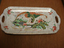 "Thomas Forester T.F.&S. Phoenix & Carp Chintz Bird &Fish 6""x11.5"" SANDWICH PLATE"