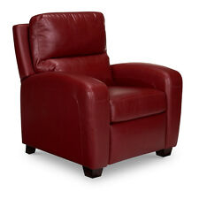 BRICE RECLINER 3 POSITION  PREMIUM FAUX LEATHER / CHERRY RED / COMFORT PLUS