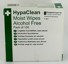 100 x Alcohol Free Wipes First Aid Box Work Place Kitchen Kit L435 Hand Wipes