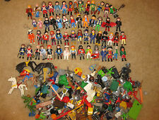 HUGE Lot of Playmobil 57 People & Accessories~Weapons Horses