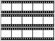 """Film Strip A4 Size (10""""x 7.5"""") Edible Icing Cake Topper 3 Strips per sheet"""