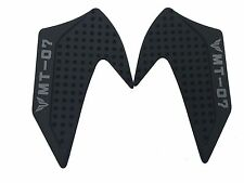 Black Anti slip Tank Traction Side Pads Grip Protector For MT07 FZ07 2014 15 16