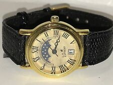 Vintage L.A.EXPRESS Quartz Sun and Moon Phases Watch Women's (#01)