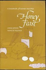 Honey Feast Opton Hughes Signed by Authors Recipe Book Cookbook