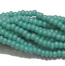 Opaque Turquoise Green Czech 11/0 Glass Seed Beads 1-6 String Hank Preciosa