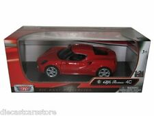 MOTORMAX ALFA ROMEO 4C RED 1/24 Diecast Car NEW IN BOX 79320RD