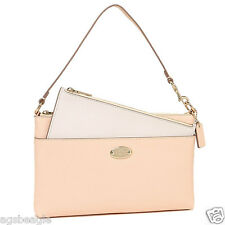 Coach Wristlet F53014 Cross Grain Pop Pouch Chalk Agsbeagle