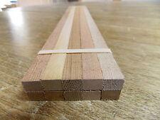 "Western Red Cedar (10) 3/8"" x 1/2"" x 16"" G 1/24 Scale Model Railroad Lumber"