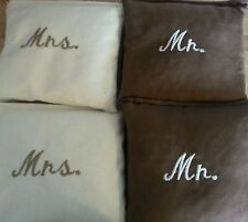 Mr and Mrs wedding (set of 8) bags Corn hole bags
