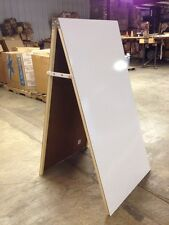 """Hardwood 24"""" X 48"""" White Board Double Sided Easel Sidewalk Message Sign Display"""