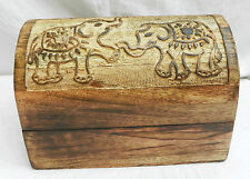 En bois cabin trunk/pirate coffre au trésor en bois boîte de rangement-neuf