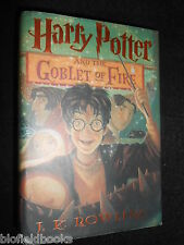 SIGNED; J K ROWLING - Harry Potter & The Goblet of Fire - July 2000-1st US Ed HB