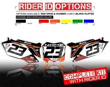 2006 2007 2008 2009 YAMAHA YZ 250F  YZ 450F CUSTOM NUMBER PLATE GRAPHICS KIT