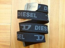 DIESEL CANVAS BLACK BELT,NEW NO TAGS