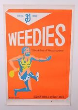VINTAGE 0RIGINAL 1969 WEEDIES HEAD SHOP DISPENSARY MARIJUANA PROPAGANDA POSTER