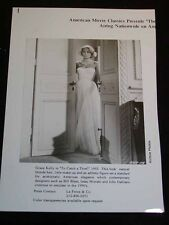 """Vintage MOVIE STAR PHOTOGRAPH Grace Kelly in """"To Catch a Thief"""" c1955"""