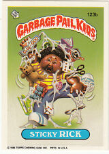 """1986 TOPPS GARBAGE PAIL KIDS SERIES 3 CARD #123b """"STICKY RICK"""", PUZZLE -NM/MT"""