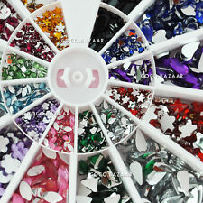 1200 Pcs Nail Art Mixed Rhinestones Different Colors & Shapes Nail Art Deco #9x2