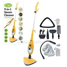 9 IN 1 STEAM MOP CLEANER WOOD TILE FLOOR CARPET BATH TOILET CAR WINDOW GAMENTS