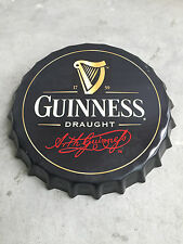Guinness Draught Round Bottle Cap Tin Sign Bar pub home Wall Decor Metal Poster
