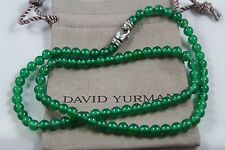 David Yurman men's  spiritual beads necklace with green onyx  size 22 inches
