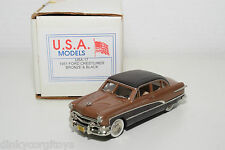 . U.S.A. MODELS MOTOR CITY USA-17 FORD CRESTLINER 1951 BRONZE & BLACK MINT BOXED