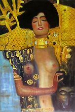 Gustav Klimt Judith I Repro, Quality Hand Painted Oil Painting, 24x36in