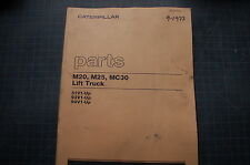 CATERPILLAR TOWMOTOR M20 M25 MC30 FORKLIFT Parts Manual book lift truck OEM 1977