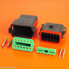 Deutsch DT Series 12 Way Pin Connector Male & Female DT0412PA-CE02 DT0612SA-CE10