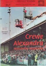 CREWE ALEXANDRA V GRESLEY ROVERS FA CUP 1994 VGC 8 GOALS. WHO WON? SEE DESCRIP!