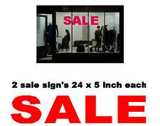 Sale Sign Shop Window Sticker Vinyl