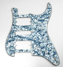 Silver Pearloid 3-Ply Pickguard HSH for American Standard Strat Guitar