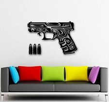 Wall Stickers Vinyl Decal Gun Chucks Firearms War Military (ig864)