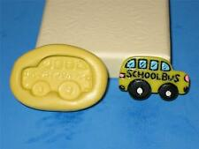 School Bus Silicone Push Mold A118 For Cake Topper Candy Clay Fondant